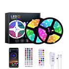 Lights Rgb LED Strip Lights RGB DC 12V 5M 10M 15M 20M Color Change SMD 5050 With Bluetooth Music Controller And 100-240V Adapter