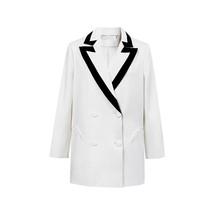 Женский Повседневный костюм TWOTWINSTYLE, Бежевый свободный пиджак с отложным воротником и длинными рукавами, модель 2020 года(Китай)