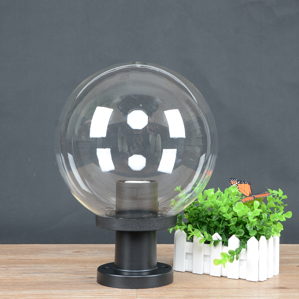 250MM 지우기 홈 정원 야외 조명기구 울타리 볼 빛 빌라