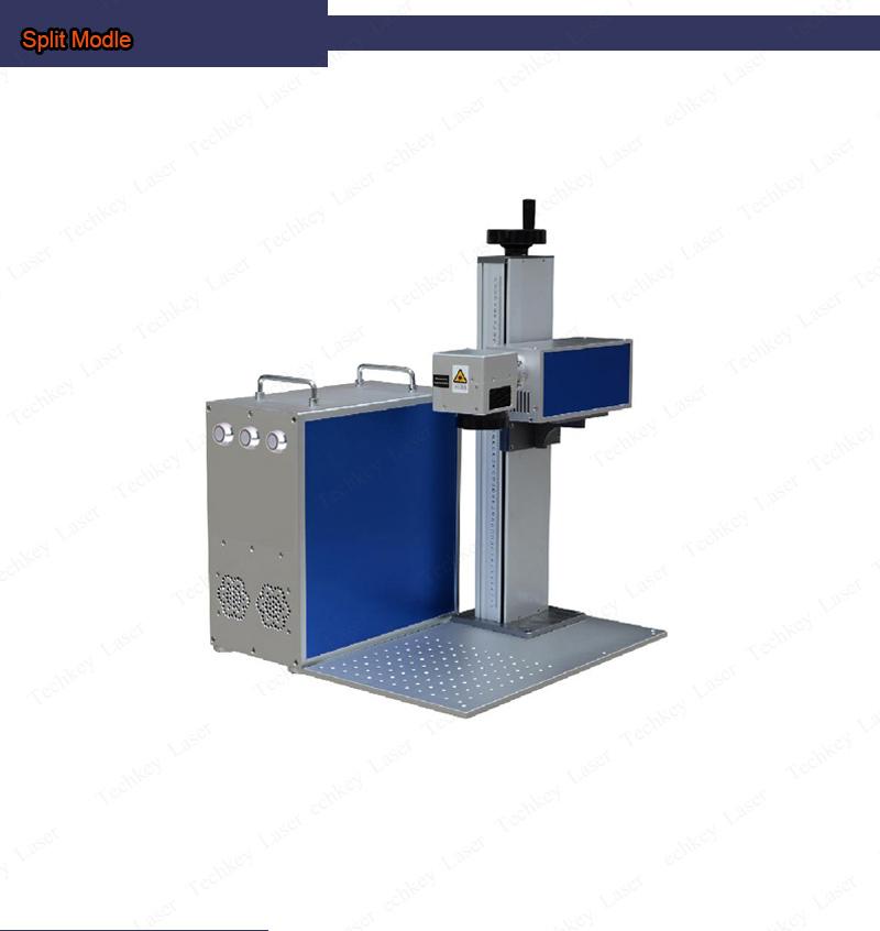 Рынок Европы 20 Вт цвет Волоконно лазерная маркировочная машина лазера воздушного охлаждения, небольшой 30В разделение для гравировки по металлу табличка с именем