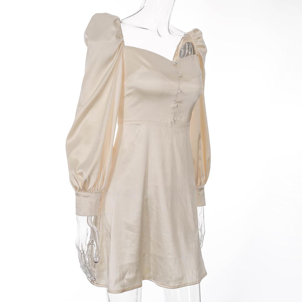 Women ins long sleeve mini dress casual party evening breast wrap high waist short mini woman cocktail dress