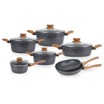 Eco-friendly  forged nonstick coating equipped kitchen cookware set