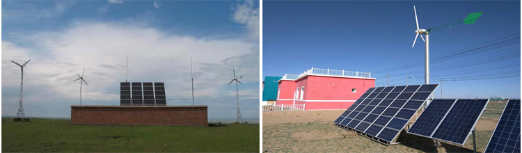 Angin Hibrida Daya Power Tanaman Rumah Sistem Berikutnya Panel Surya untuk Pembangkit Listrik