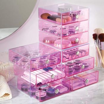 Custom made plastic storage box, 3 drawer acrylic makeup organizer