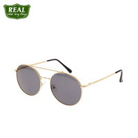 New Arrived Fashion Metal Sunglasses Frame Round Men Women Eyewear Sunglasses Double Bridge Driving Sun Glasses