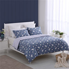 25 Years Experience Luxury 3 Piece Kng Size Blue Bed Sheet Bedding Set 100% Cotton