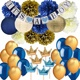 Umiss Paper Party Dekoration Set for Birthdays, Kids, Fiestas, Weddings and Holiday Navy Blue Baby Shower