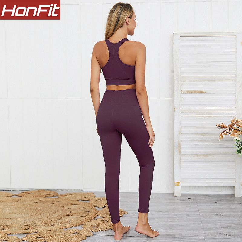 Trade Assurance High Waist Women Custom womens yoga leggings set and Yoga Bra