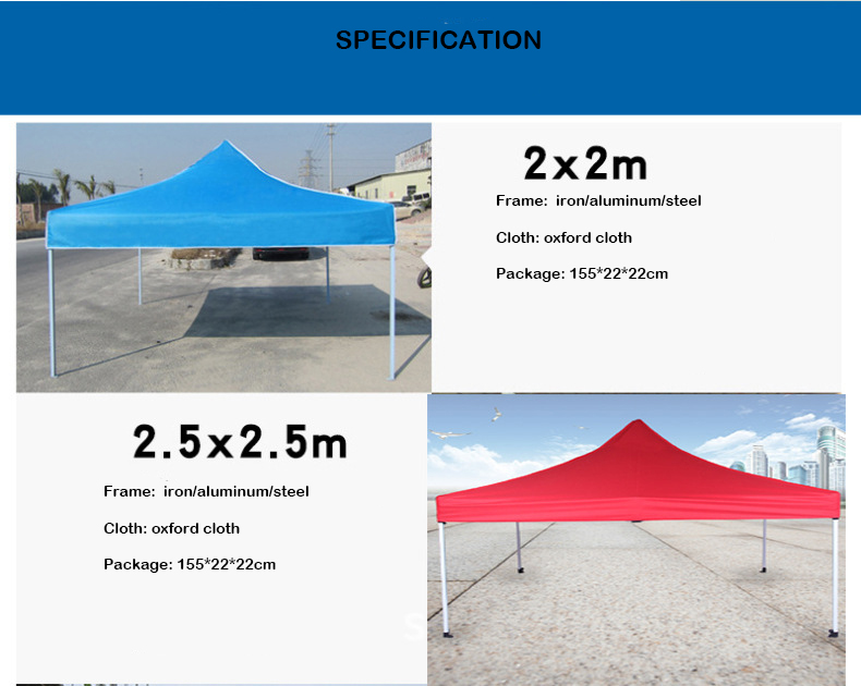 beautiful different size any logo outside 3x3m tent from China manufacturer