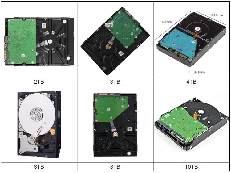 Entrega rápida a granel 3,5 pulgadas SATAIII 6 Gb/s escritorio disco duro interno de 6TB se utilizan unidades de disco duro