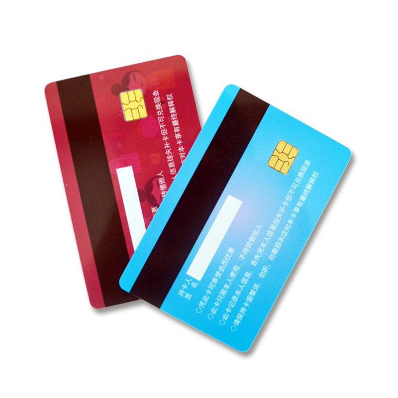 Smart rfid pvc sle4442 chip a contatto stampabile smart card con banda magnetica