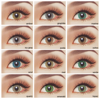 1 year colored eye contact lenses wholesale good quality cosmetics super natural beautiful style color contact lens