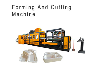 disposable polystyrene fast food lunch pizza box packaging making machine