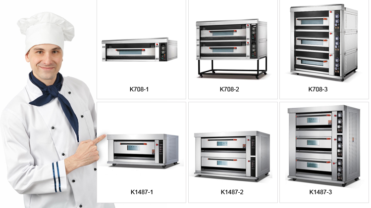 Industrial Electric Professional Bread Baking Oven Machine Good Price for Sale/ 3 Deck Large Bakery Oven