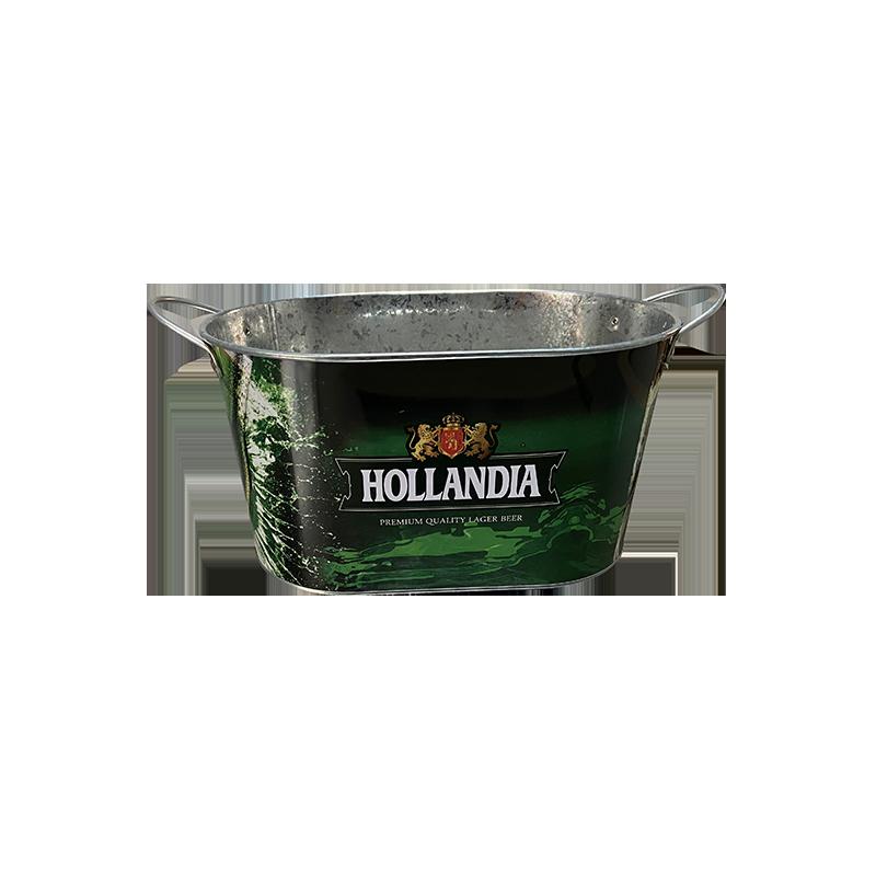 oval metal Ice Bucket with Double Fixed Handles