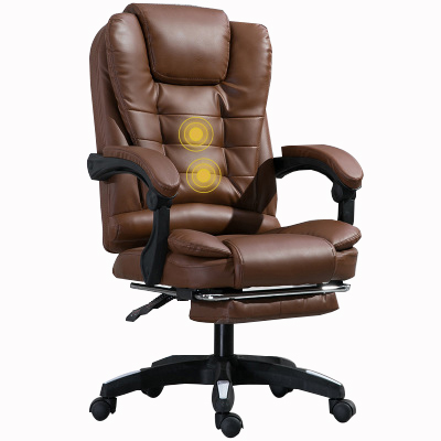 High-Back Simple Luxury Leather Boss Office Chair with massage function.