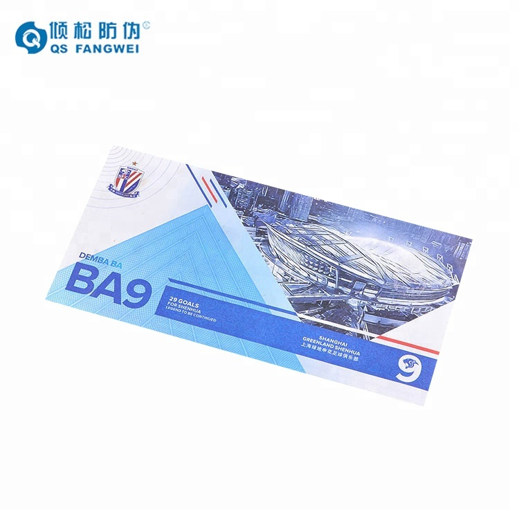 Best quality professional custom anticounterfeit thermal event ticket printing
