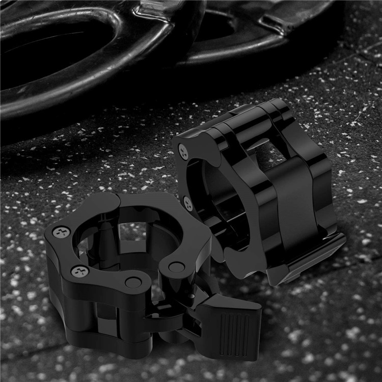 MoKo [2-Pair] Weightlifting Lock 2 inch Plastic Barbell Collar Clamps