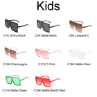 Flat Top Sun Glasses Women Plastic Custom Logo Shades 2020 New Arrivals Big Hexagon Match Mother and Daughter Square Sunglasses