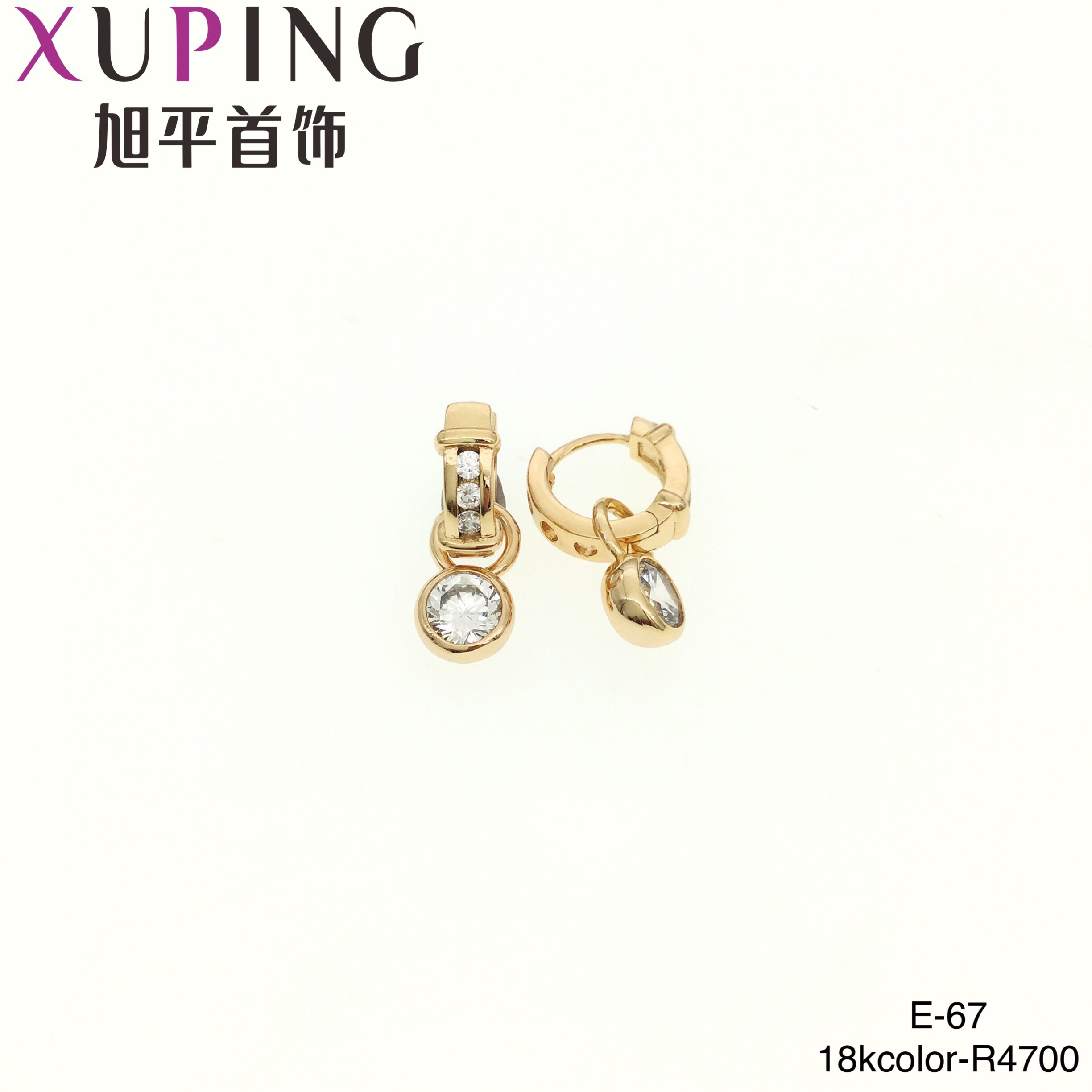 A01 xuping New designer hand shaped earrings women jewelry gold plated drop earrings