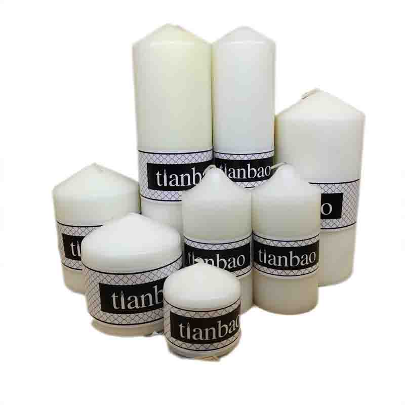 good quality and cheap pillar candle church candle