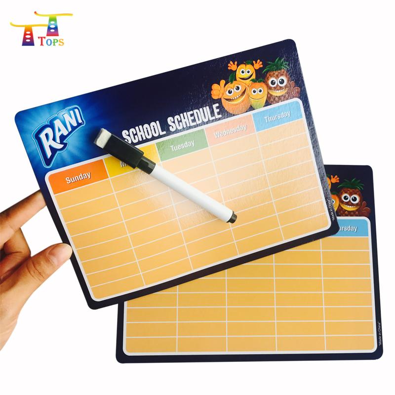 Write And Wipe Magnet Message Menu Memo Marker White Weekly Refrigerator Custom Printed Planning Dry Erase Magnetic Board - Yola WhiteBoard | szyola.net