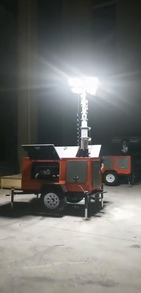 220V 핸드 푸시 led 램프 자동 라이트 타워 기계 발전기 램프 핸드 푸시 조명 자동차 수리 사고 처리