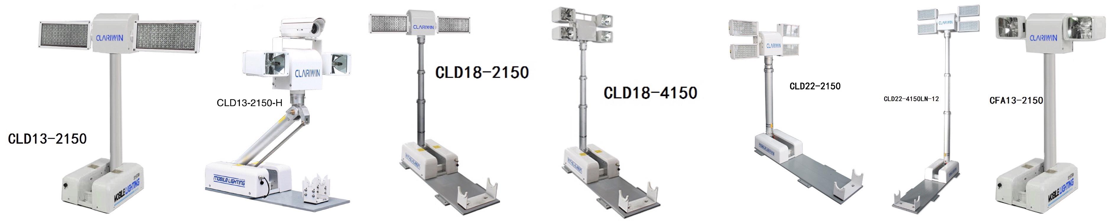 クラランス1.8mレスキュー空気圧伸縮マストledライトタワー