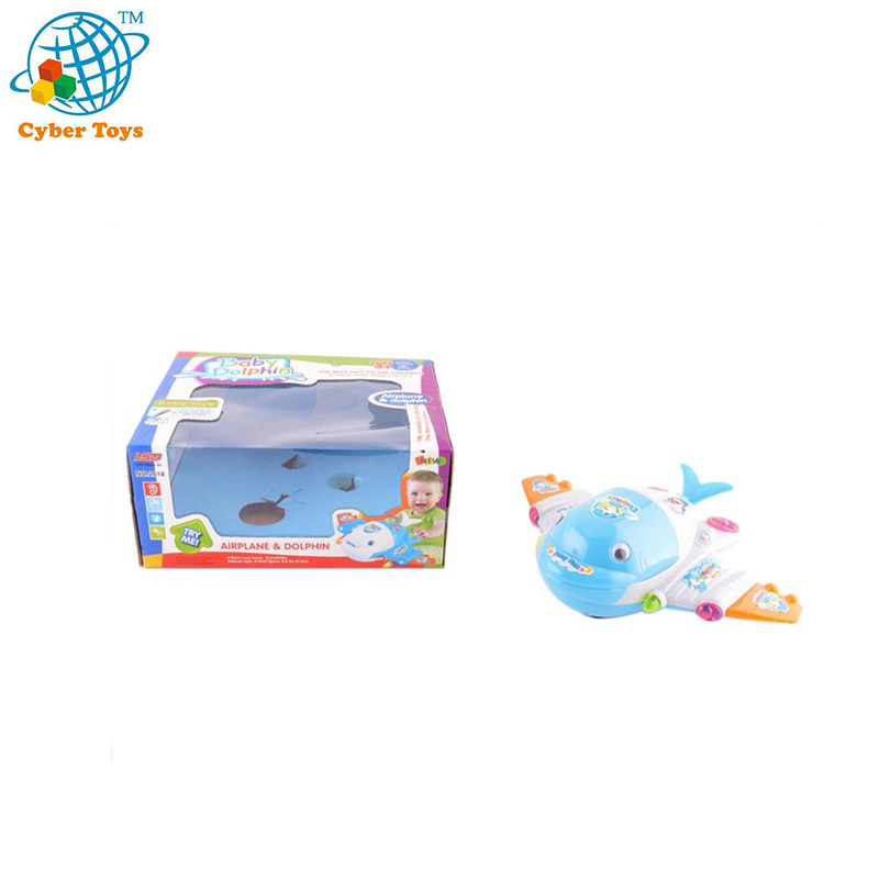 Battery operated plane cartoon airplane for  kids electric toy with light and music
