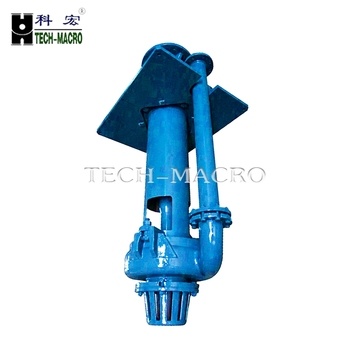 Acid corrosion resistant mine drainage vertical slurry pump