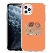 Мягкий силиконовый чехол с изображением кота и ангела для iPhone 11 pro Max 6 6S 7 8 X XS 5S 5 для мальчиков и девочек(Китай)