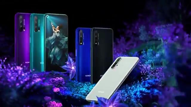 오리지널 화웨이 명예 20 프로 4G 8 + 256GB Smartphone CN 버전 6.26 인치 4000mAh 안드로이드 9 화웨이 명예 20 Pro 휴대폰