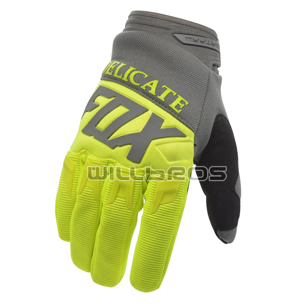 Delicate Fox Factory Custom Dirtpaw Gloves Enduro Motocross Bike Cycling MX Mountain Downhill Off Road Racing Glove