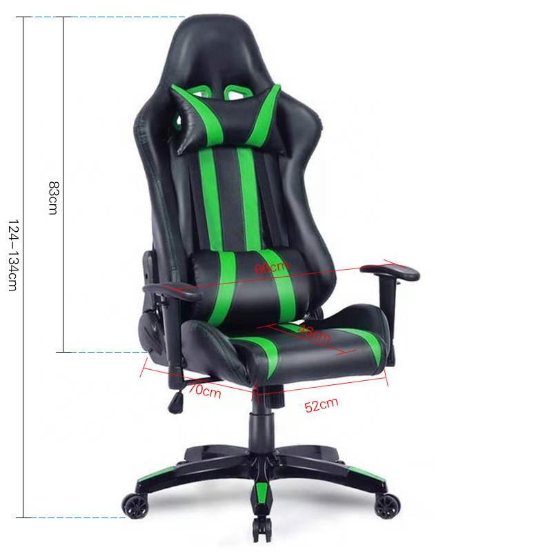 Good Quality Modern Design Gaming Chair  Headrest Pillow Adjustable Height Racing Chair