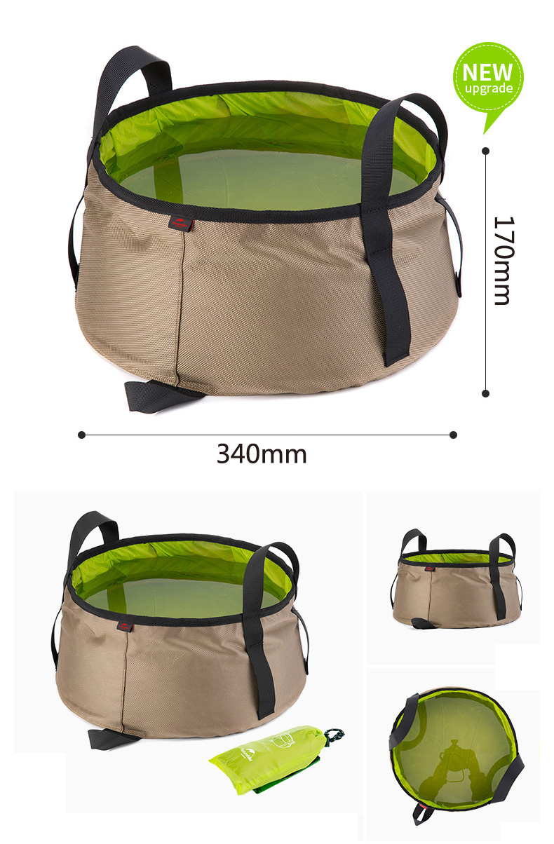 Naturehike 10L Outdoor Camping Fishing Portable Collapsible Folding Bucket Barrel Water Container for outdoor sports