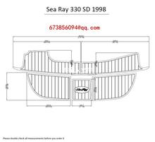 "Sea Ray 330 <span class=keywords><strong>SD</strong></span> 1998 Berenang Platform Pad 1/4 ""6 Mm Perahu EVA Jati Decking Lantai"