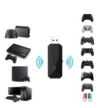 USB Wireless Controller Converter Adaptor untuk PS4/<span class=keywords><strong>PS3</strong></span>/<span class=keywords><strong>PC</strong></span>/Nintendo Switch Controller Converter Adaptor Dongle <span class=keywords><strong>Bluetooth</strong></span>