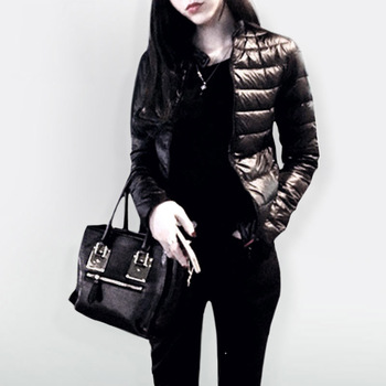 Casual Parkas Thin Female Clothes Short Outwear Cotton Warm Jacket