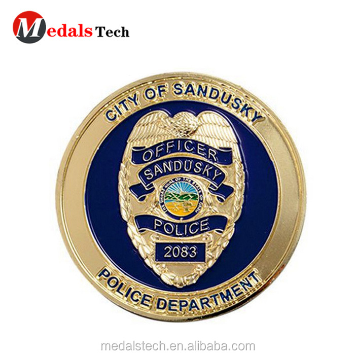 No minimum order color filled  national flag security challenge coins