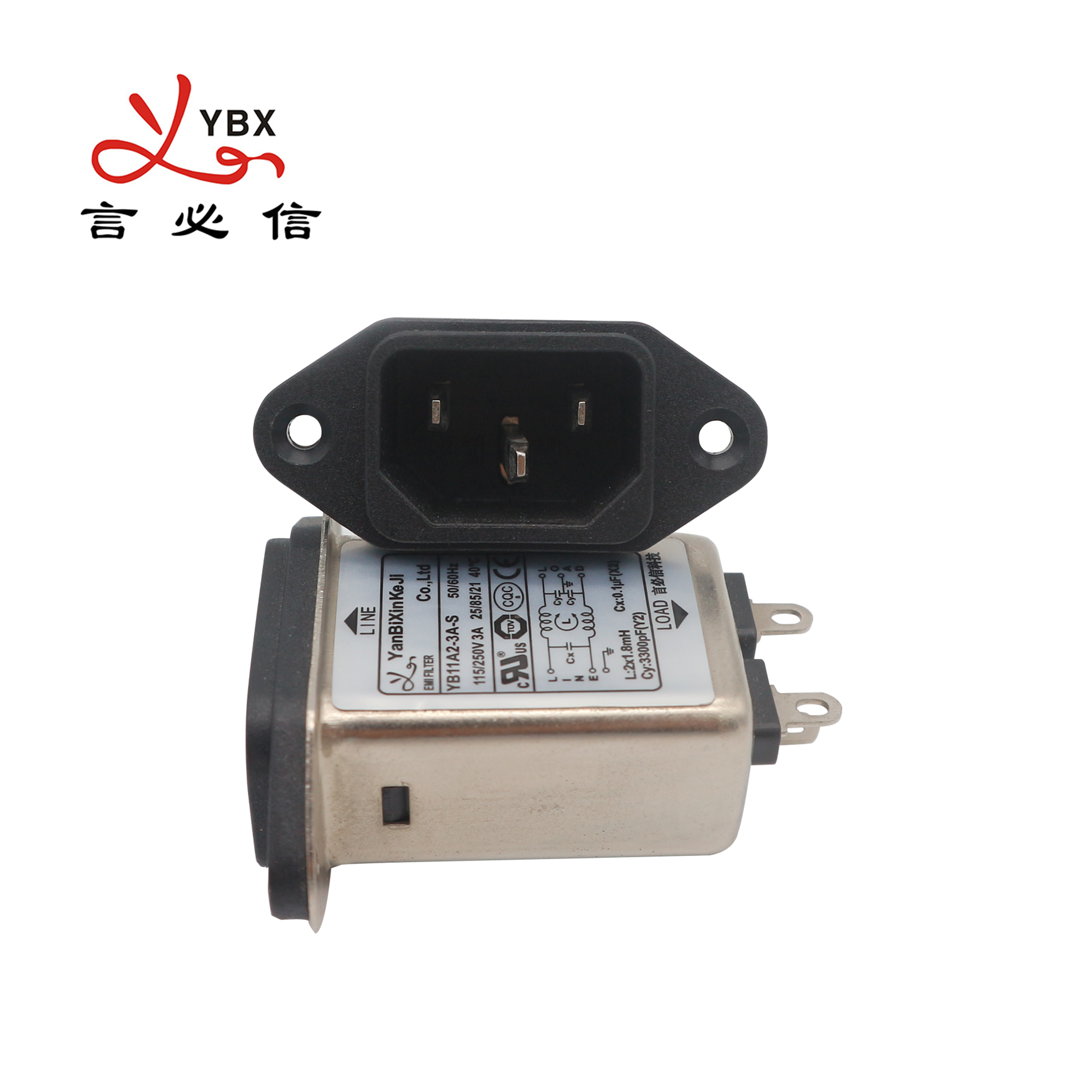 Yanbixin YB-B3 제조 IEC 소켓 EMC EMI 필터 스위치