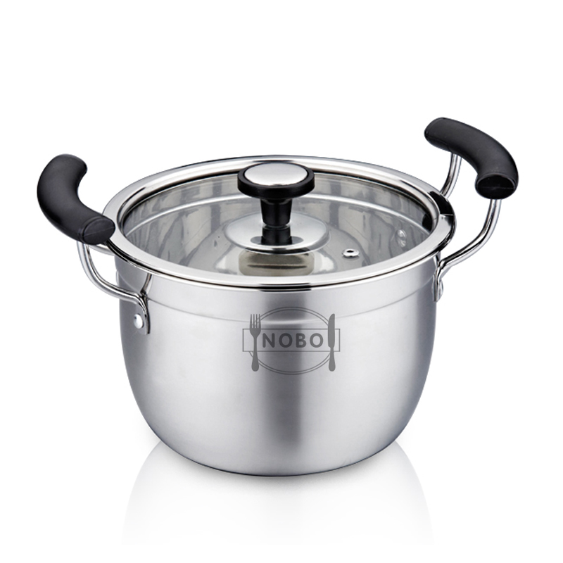 Mirror polish stainless steel food cooking pot multifunctional pot
