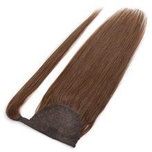 BHF натуральные волосы в виде хвоста, прямые европейские волосы, Remy, конский хвостик, обмотка вокруг парика «конский хвост», 100 г хвостов(Китай)