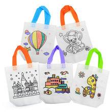 2 шт./компл. антистресс Пазлы обучающая игрушка для детей Сделай Сам экологичный граффити сумка Детский сад ручная роспись материалы(Китай)