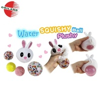 Fashionable stress relief toy squishy ball plush bunny rabbit toy