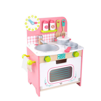 2019 New Design Kids wooden pretend play kitchen set food cooking play toy