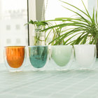 Borsilicate Double Wall Colored Drinking Glasses Coffee Glass Cup