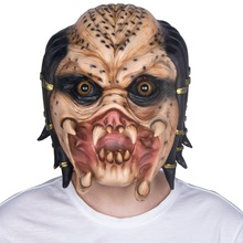 Scary Alien Skelet Predator Cosplay Martian Enge <span class=keywords><strong>Latex</strong></span> Halloween <span class=keywords><strong>Masker</strong></span>