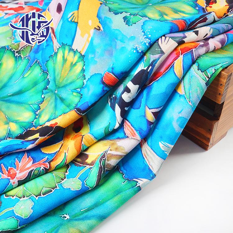 Dubai Abaya yeni tasarım 100% Rayon Challis dijital baskılı kumaş kadınlar için elbise