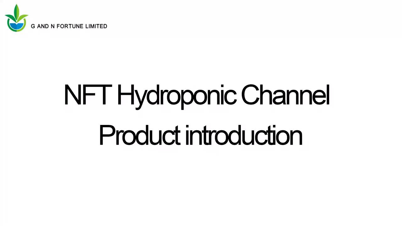 G & N חקלאות 100*50mm PVC NFT האזור ערוץ הידרופוני NFT האזור ערוץ עבור חסה גידול