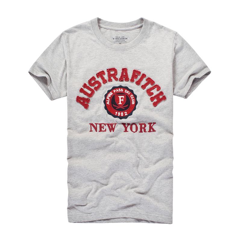 Niedrigen MOQ einzelhandel siebdruck ausgefranste stickerei waschen applique custom marke t shirt